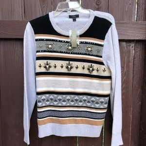 J.crew jeweled fair isle sweater
